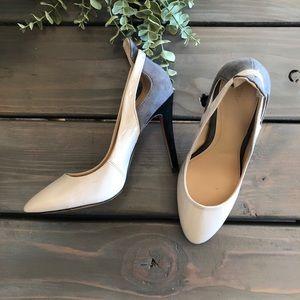 ZARA• pink & grey heels